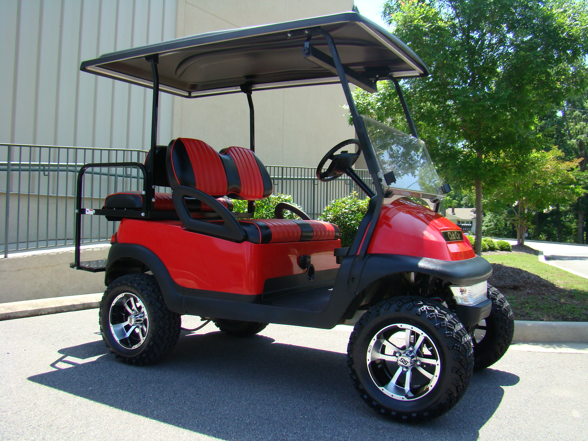 Golf carts will soon be the way to get around my coast now for Golf cart garage door dimensions