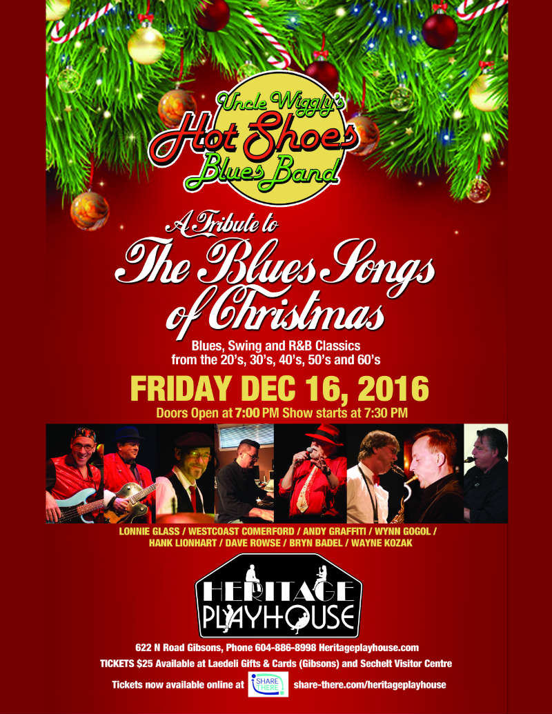 uncle wigglys hot shoes blues band presents a tribute to the blues songs of christmas enjoy live blues swing and rb holiday classics from the 20s - Blues Christmas Songs